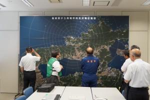 原発を中心とした島根半島の航空写真