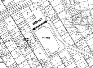 廃止市道位置図