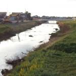 赤川の拡幅工事