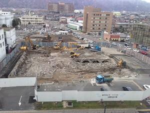 市役所旧庁舎解体工事
