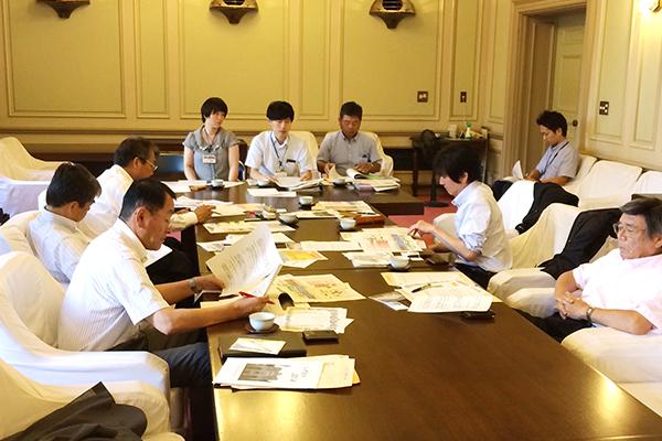 静岡市役所での説明