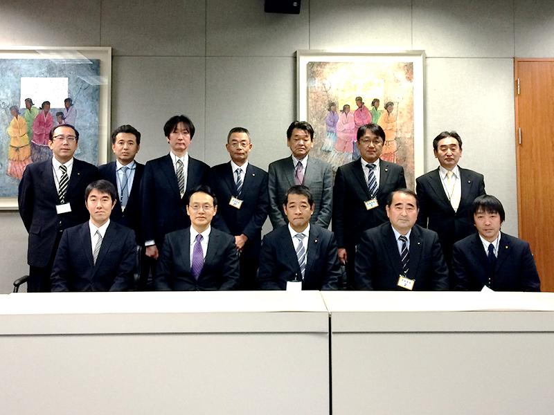 日本大使館訪問