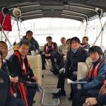 浦項運河とクルーズ観光の状況を視察